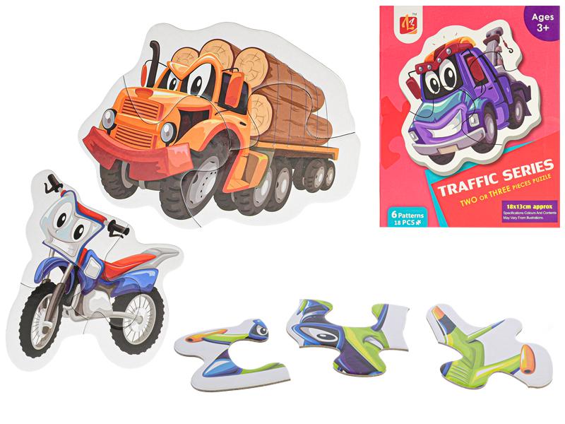 Puzzle detské Dopravné prostriedky 18-dielikov