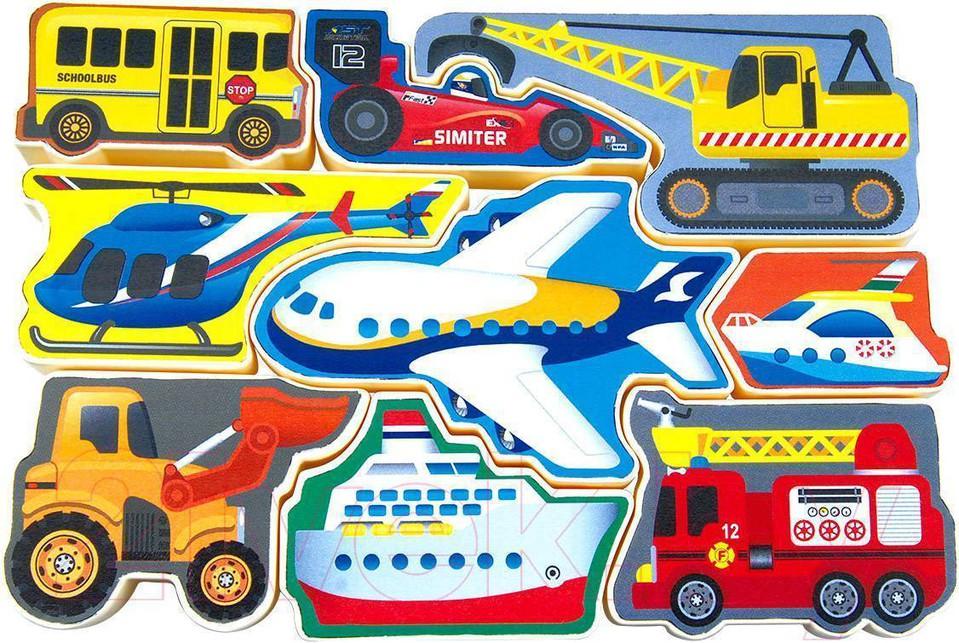 Puzzle Dopravné auta 9ks
