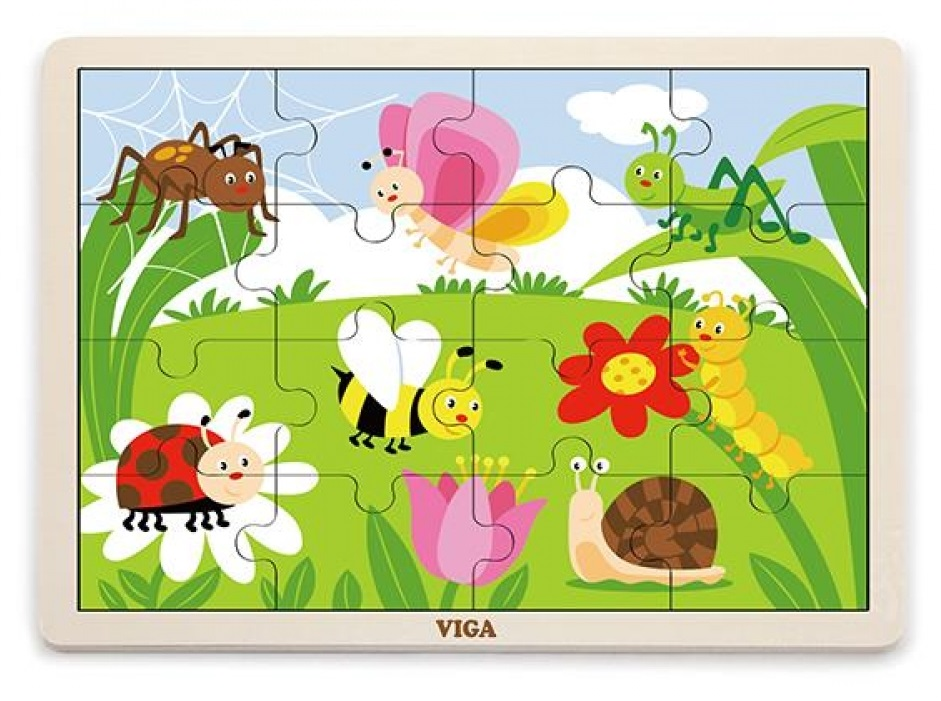 Viga Drevené puzzle 16ks