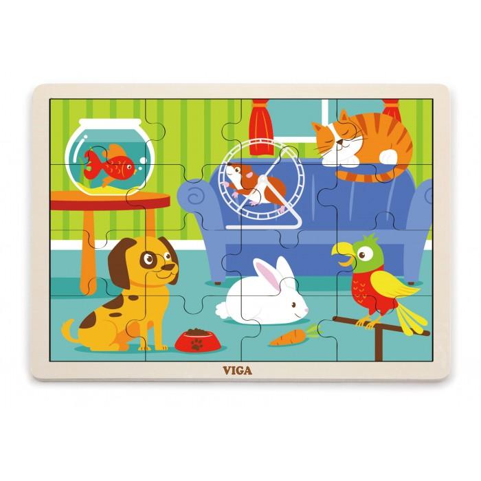 Drevené puzzle zvieratká 16ks