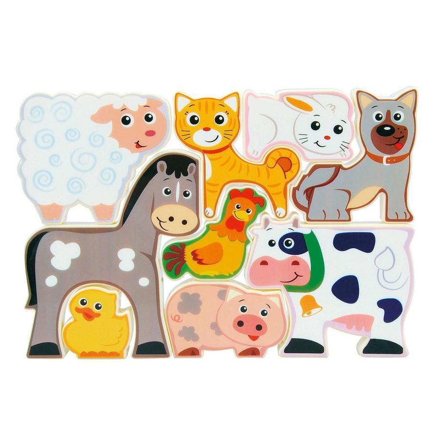 Playgo Puzzle zvieratká z farmy