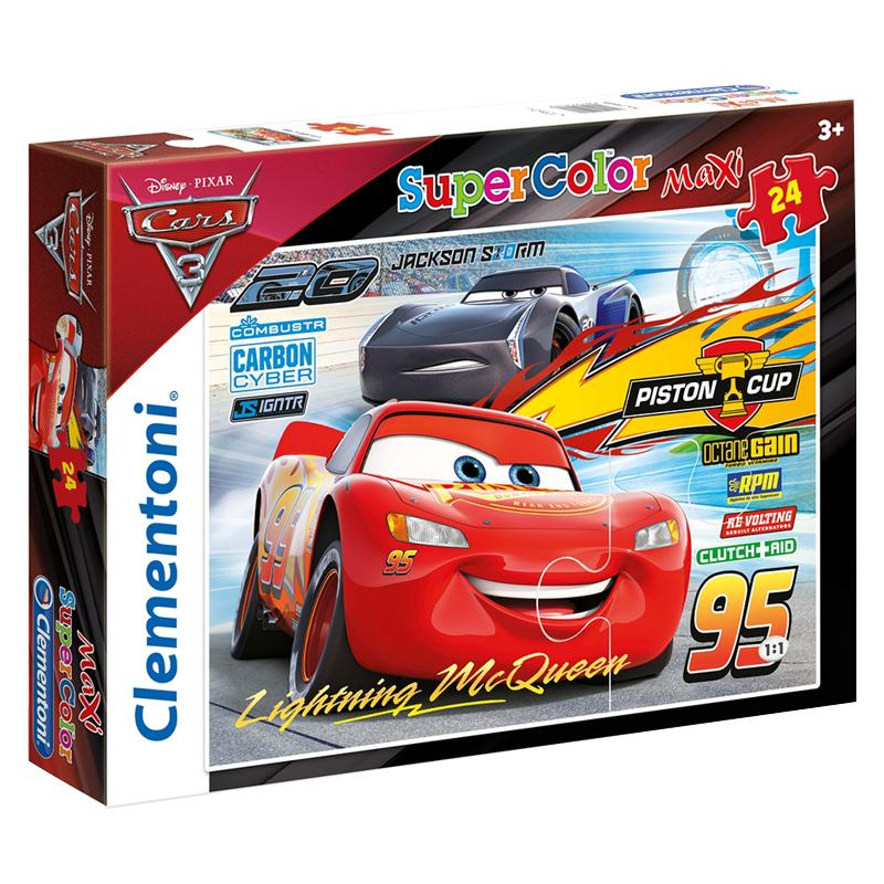 Clementoni puzzle Maxi 24 Cars 3