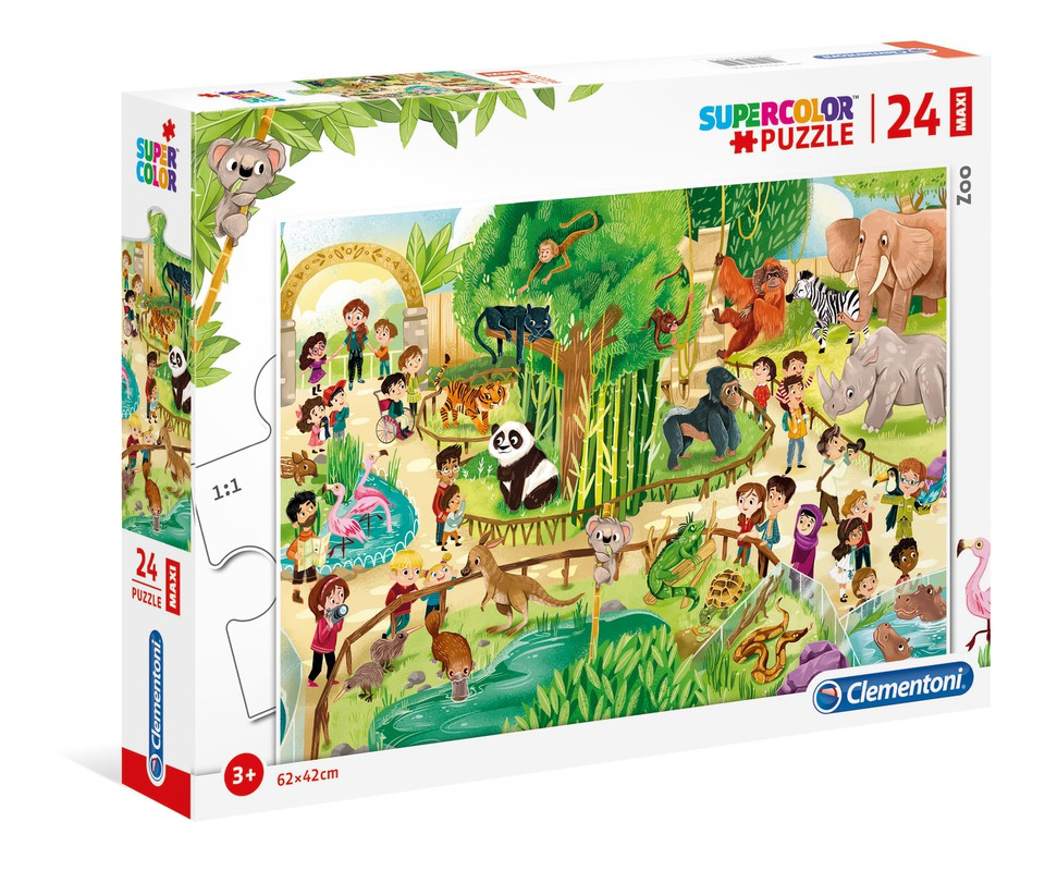Clementoni Puzzle 24 MAXI Zoo