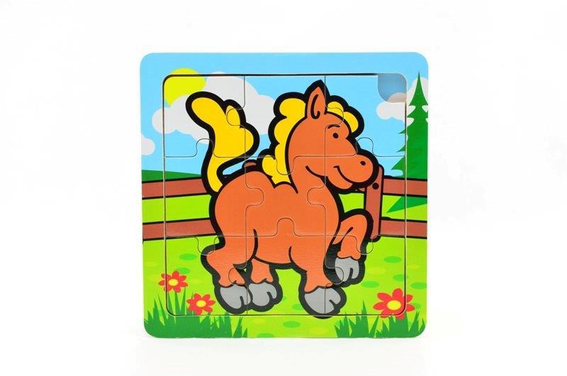 Puzzle mini drevené zvieratá