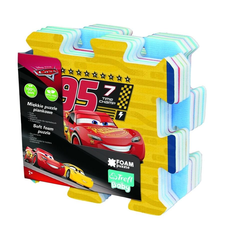 Mäkké penové puzzle Cars 3