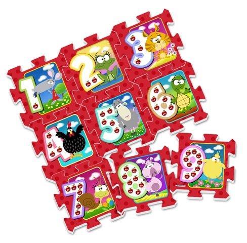 Mäkké puzzle bloky Farma s číslami