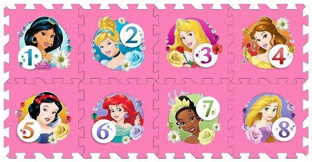 Mäkké puzzle bloky Princezné