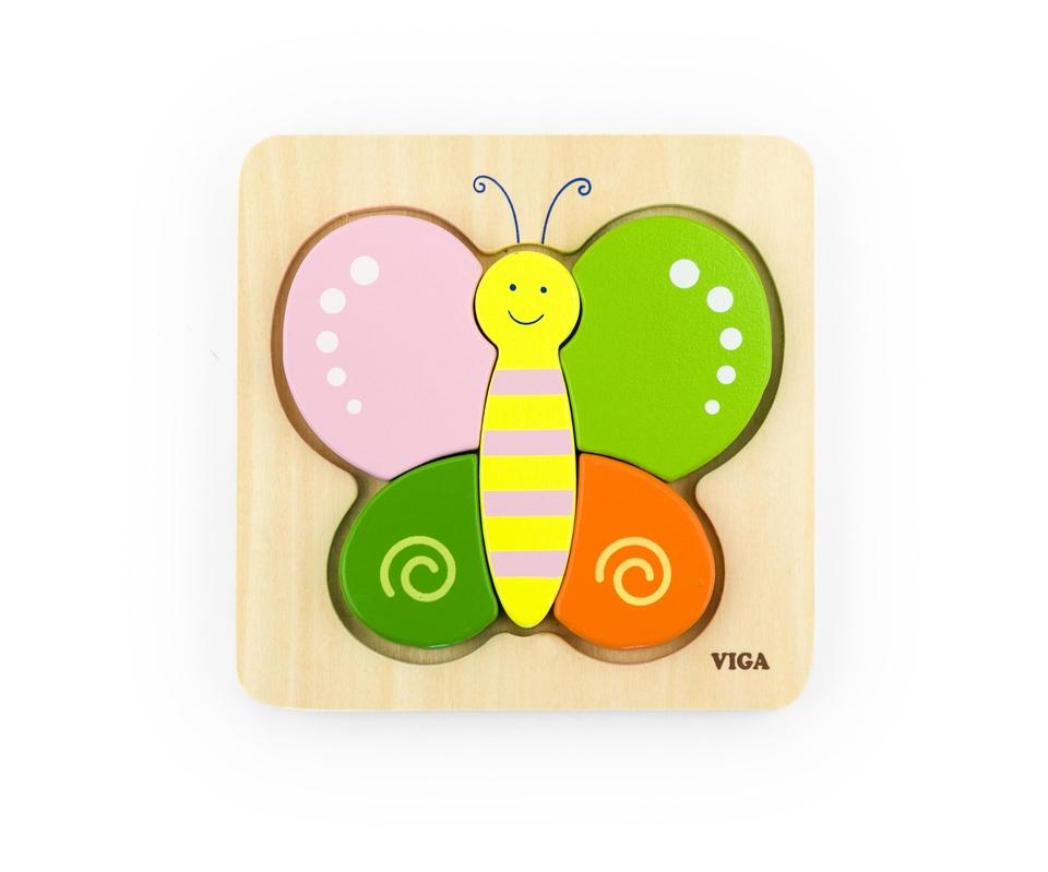 Viga Puzzle pre najmenších motýľ