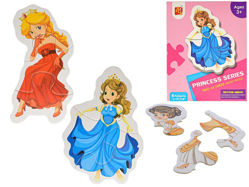 Puzzle detské Princezné 17-dielikov