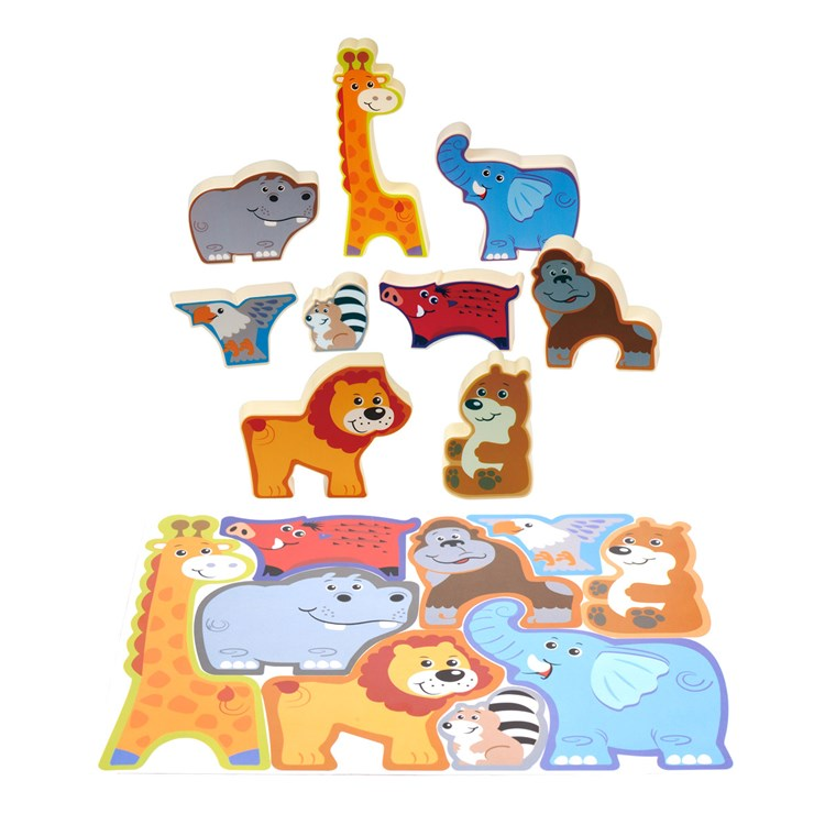 Puzzle Safari zvieratká 24x18cm