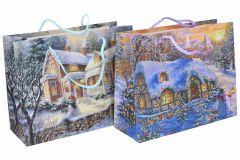 Darčeková taška Vianočná 24,5x19x9cm