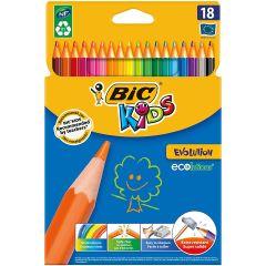 BIC Kids Evolution ECO Farebné ceruzky 18ks