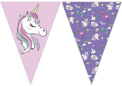 Vlajková girlanda Minnie/Unicorn 2,3 m