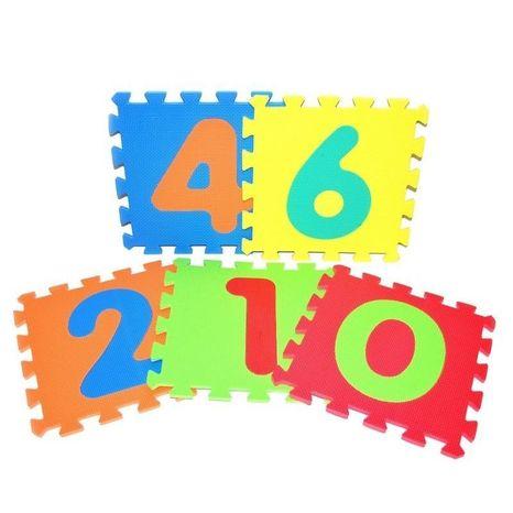 Mäkké puzzle bloky číslice 30x30cm