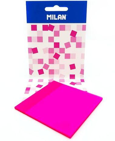 Ružové lepiace papieriky transparentné 7,5cm