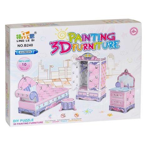 Puzzle 3D Nábytok