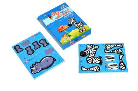 Puzzle 3D zvieratká