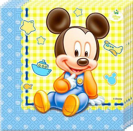 Servítky Mickey Baby 33x33cm 20ks