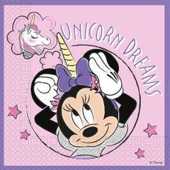 Servítky Minnie Unicorn Dreams 33x33cm 20ks