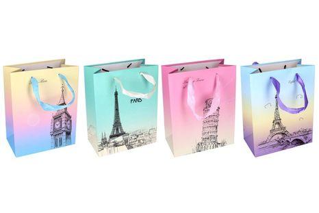 Darčeková taška Paríž 23x10x18cm