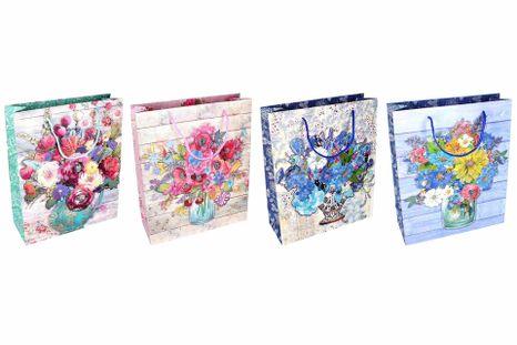 Darčeková taška Kvety vo váze 26x32x10cm