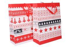 Darčeková taška vianočná 39x30x12cm