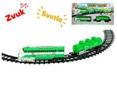 Vlak s vagonmi a dráhou