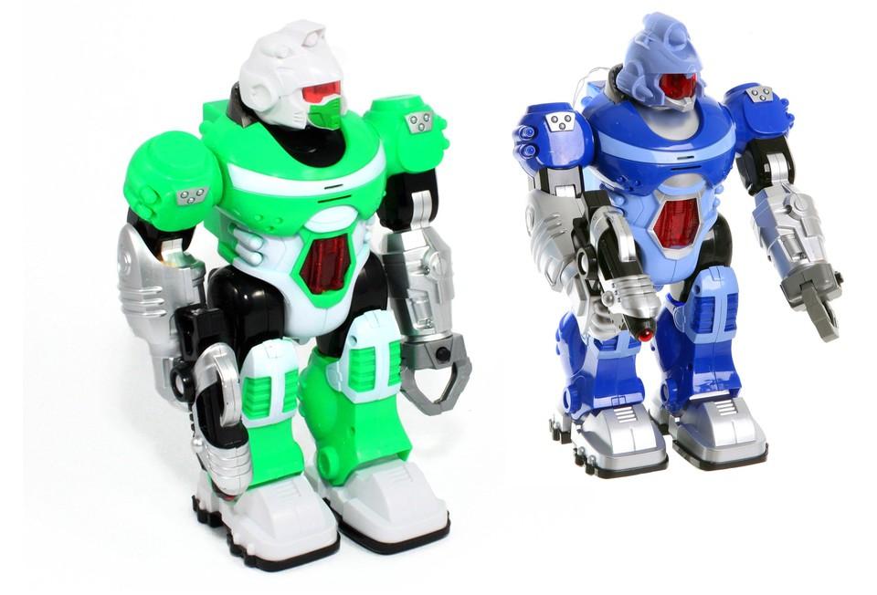Robot s efektami27cm - modrá