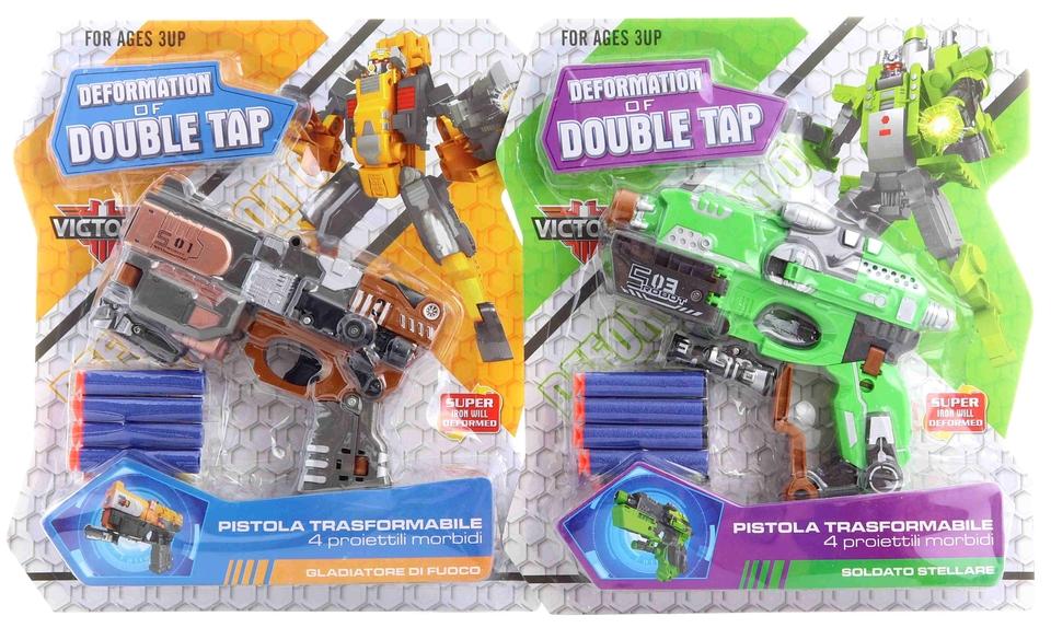 Robot pištoľ 17cm - hnedá