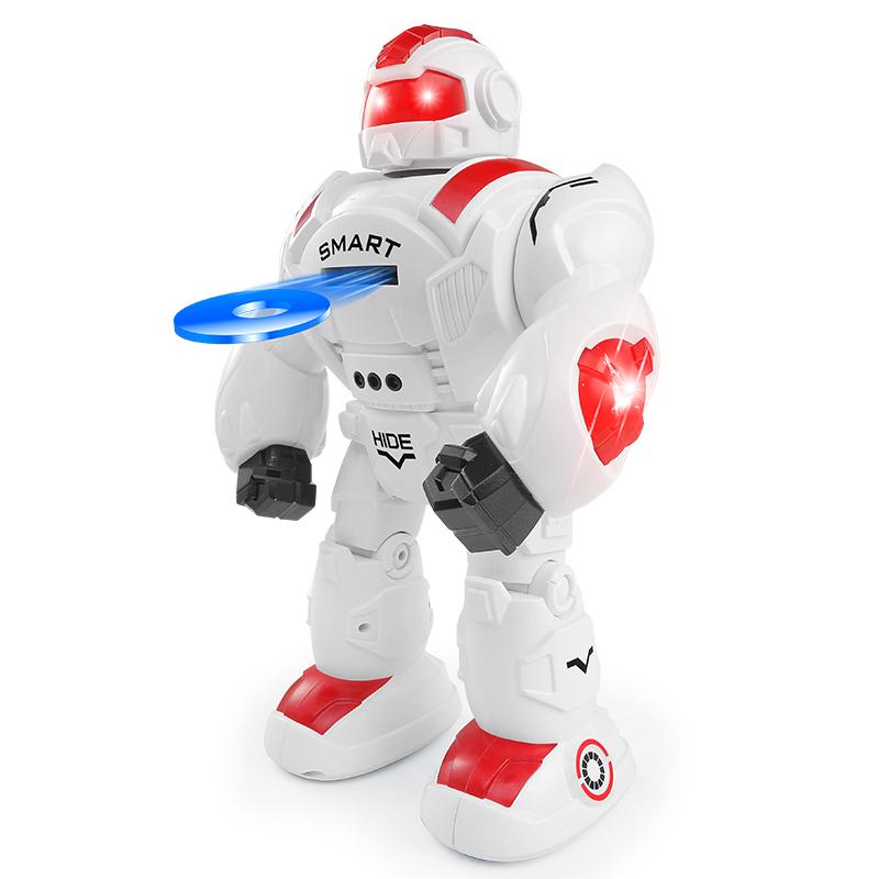 Robot strieľajúci disky RC 35cm