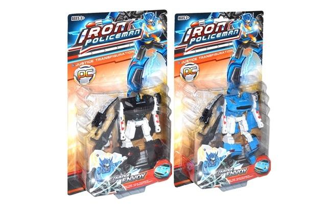 Robot Transformer Polícia 15cm - čierna