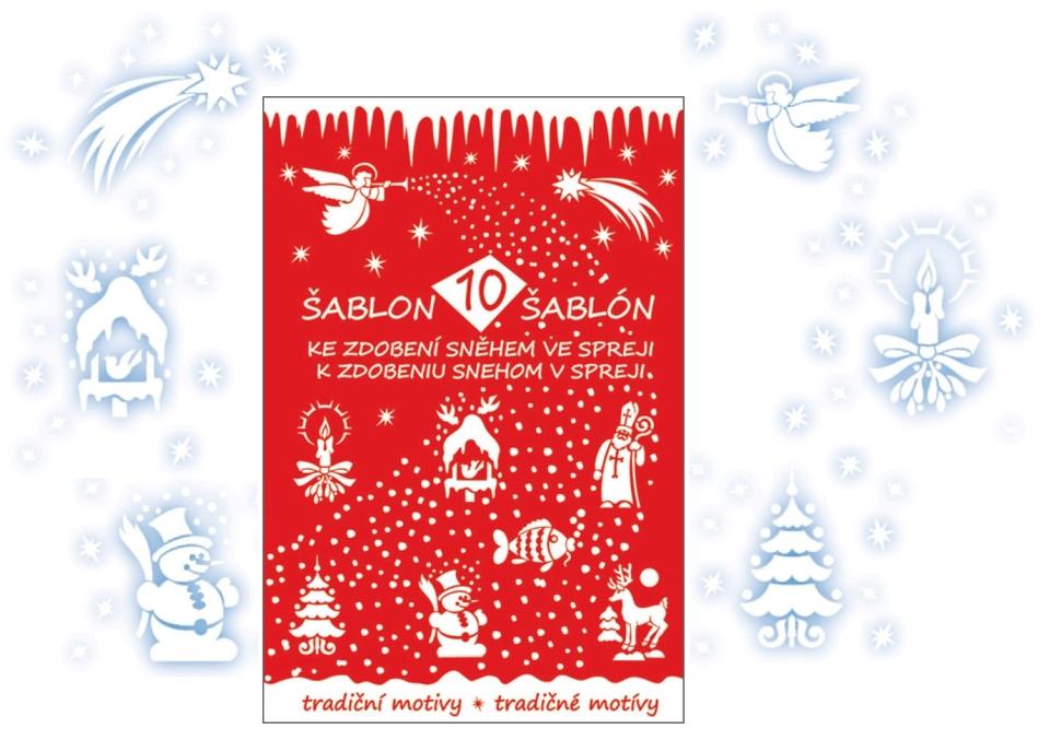 Šablóny vianočné - 10 motívov