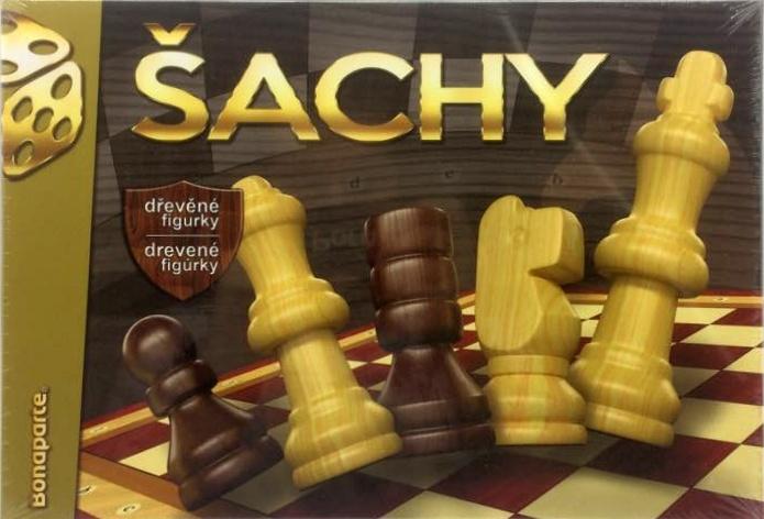 Šachy drevené v krabici