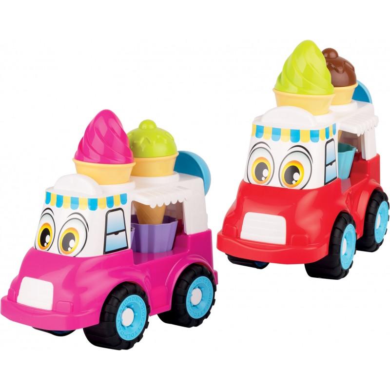 Auto Happy zmrzlinové nákladné auto 26cm - červená