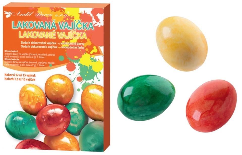 Sada na dekorovanie - lakované vajíčka