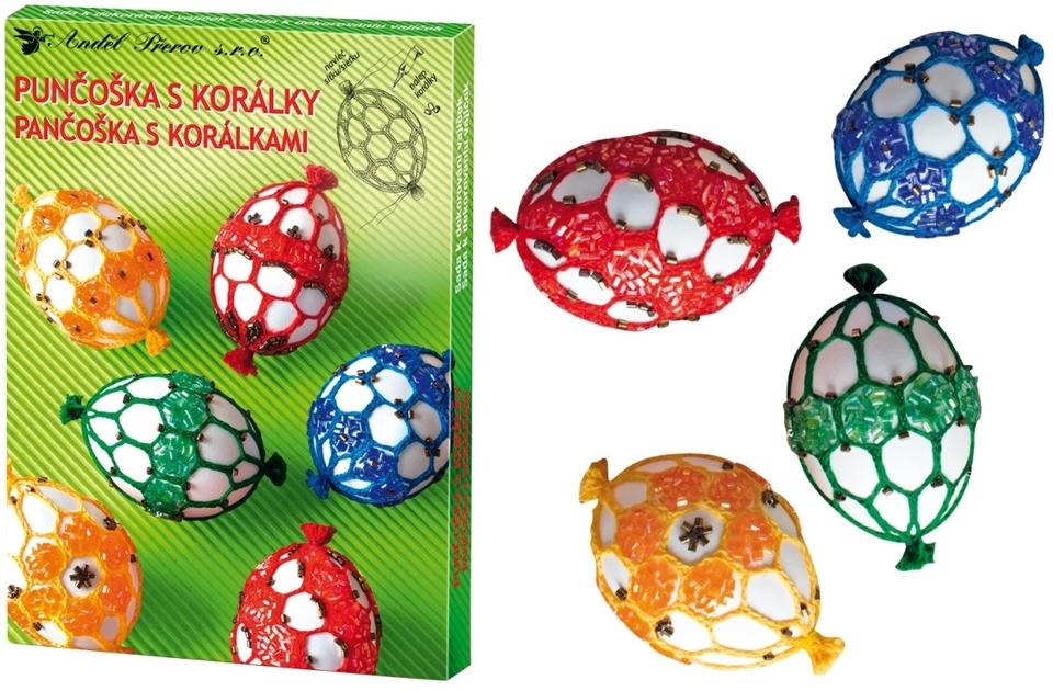 Sada na dekorovanie vajíčok - pančuška s korálkami