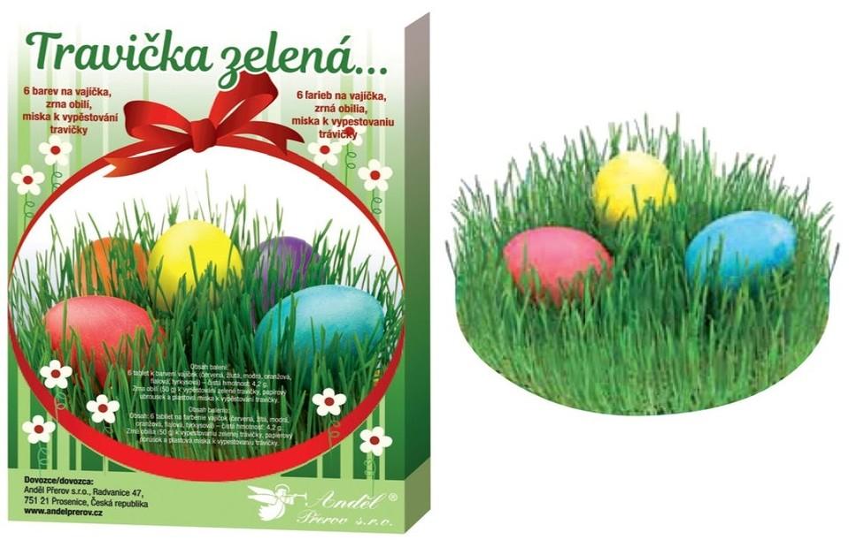 Súprava na dekorovanie vajíčok – trávička zelená
