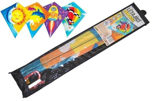 Šarkan 60x70cm 4 druhy - raketa