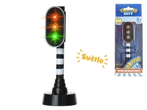 Semafor so svetlom 15cm