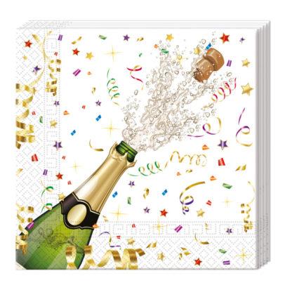 Servítky Šampanské 33x33cm 20ks