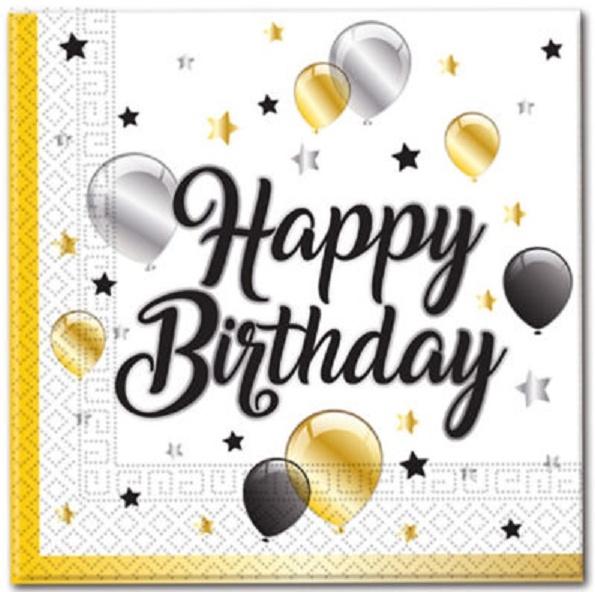 Servítky balóny Happy Birthday