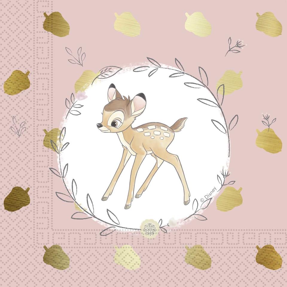 Servítky Bambie 33x33cm 20ks