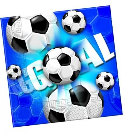 Servítky Football modrý 33x33cm 20ks
