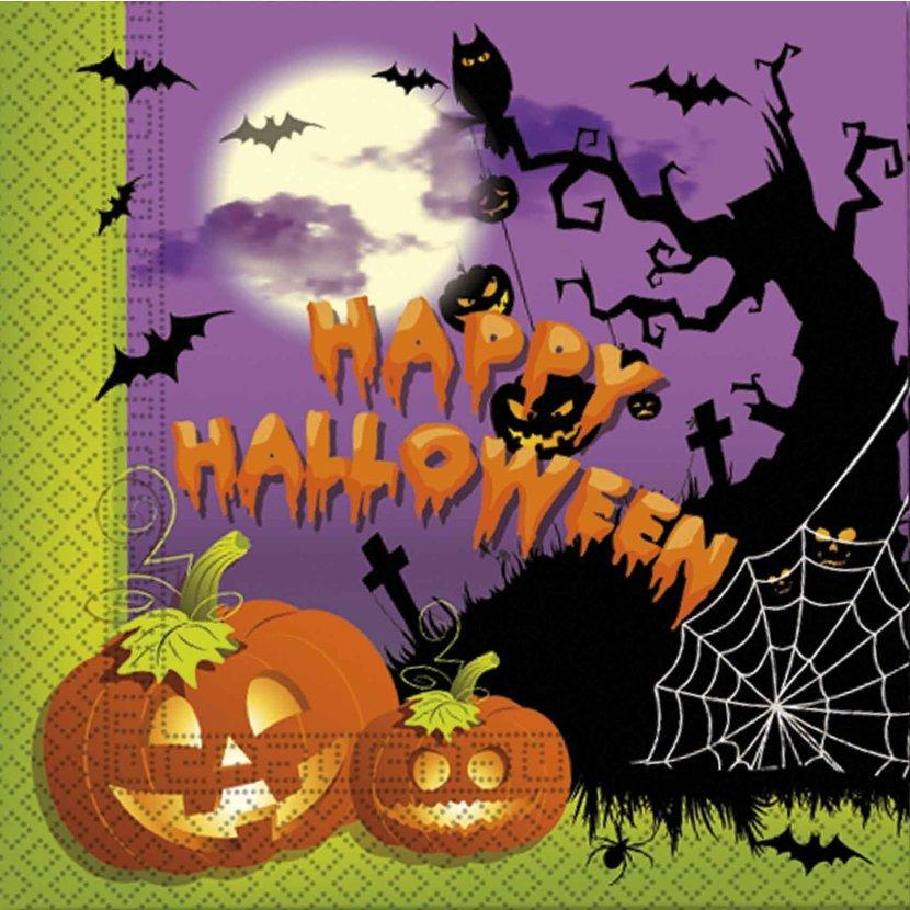 Servítky Happy Halloween 33x33cm 20ks