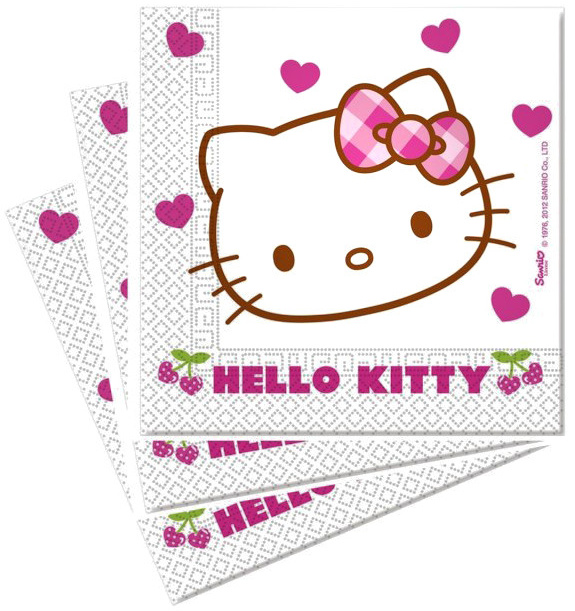 Servítky Hello Kitty 33x33cm 20ks