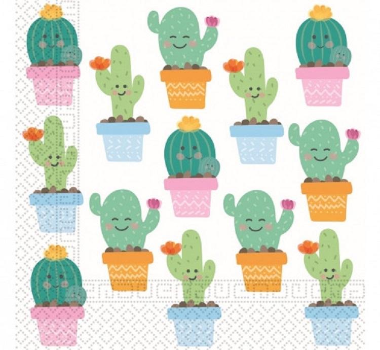 Servítky kaktus 33x33cm 20ks