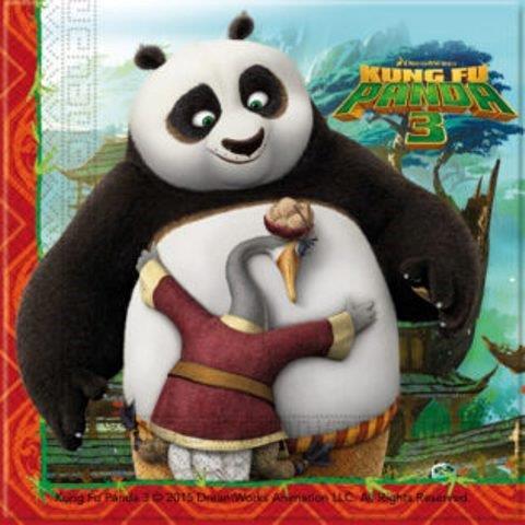 Servítky Kung Fu Panda 33x33cm 20ks