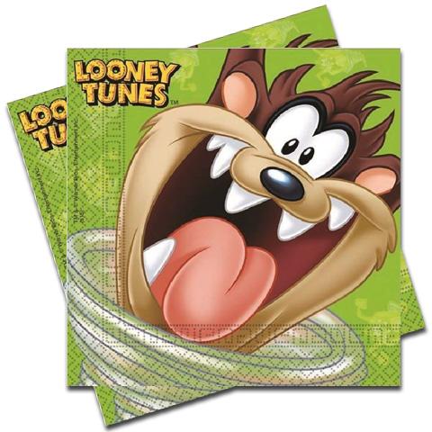 Servítky Looney Tunes 33x33cm 20ks
