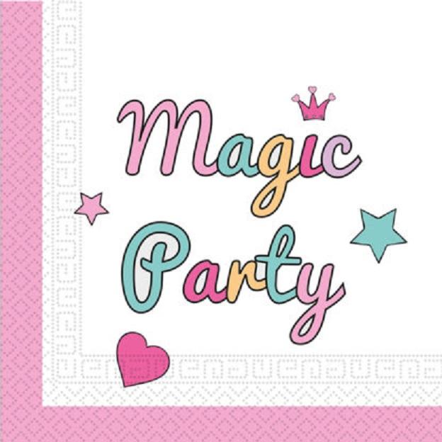 Servítky Magic párty 33x33cm 20ks
