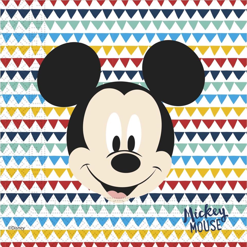 Servítky Mickey 33x33cm 20ks